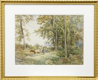 Lot 409-COW IN MEADOW BY ROBERT NISBET