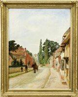 Lot 464-STREET SCENE BY GEORGE OGILVIE REID