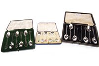 Lot 856 - A LOT OF THREE SETS OF SILVER TEASPOONS