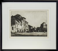 Image for THE PLAZA, AN ETCHING BY IAN STRANG