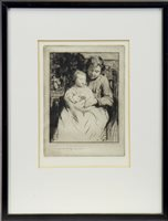 Lot 417-PIERRE, A DRYPOINT BY WILLIAM LEE HANKEY