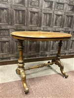 Lot 1625-A VICTORIAN BURR WALNUT OVAL CENTRE TABLE