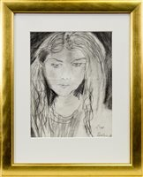 Lot 419-PEGGY, A PENCIL SKETCH BY SIR JACOB EPSTEIN