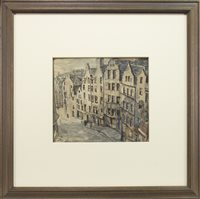 Lot 403-WEST BOW, EDINBURGH, A WATERCOLOUR ON PAPER BY WILLIAM WILSON