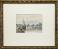 Image for A CONTINENTAL HARBOUR, A WATERCOLOUR BY ANDREW DOUGLAS