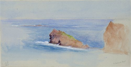 Lot 424-ST BALDRED'S BOAT, A WATERCOLOUR BY ADELA 'ADA' DUNDAS
