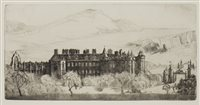 Lot 425-HOLYROOD PALACE, AN ETCHING BY JOHN RANKIN BARCLAY