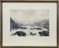Lot 427-RIVER IN SPATE, A WATERCOLOUR ATTRIBUTED TO ADRIAN BURY
