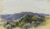 Lot 428-DISTANT VIEW OF ROME, A WATERCOLOUR BY KEELEY HALSWELLE