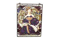 Lot 1627-AN ATTRACTIVE STAINED GLASS PANEL