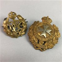 Lot 5-A SILVER COMMEMORATIVE MEDALLION AND OTHER MILITARY BADGES