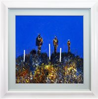 Lot 508-THE STANDING II, AN ACRYLIC BY ROBERT MCAULAY
