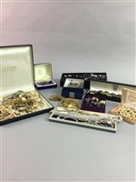 Lot 20-A LARGE COLLECTION OF SILVER AND COSTUME JEWELLERY