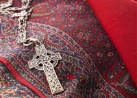 Lot 295-A RARE ALEXANDER RITCHIE OF IONA SILVER CROSS NECKLACE