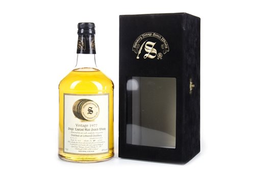 Lot 13-LITTLEMILL 1977 SIGNATORY VINTAGE AGED 23 YEARS