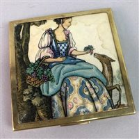 Lot 22-A COLLECTION OF VINTAGE COMPACTS WITH OTHER LADIES ACCESSORIES