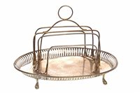 Lot 858 - A SILVER TOAST RACK