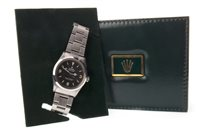 Lot 797 - A GENTLEMAN'S ROLEX OYSTER PERPETUAL EXPLORER STAINLESS STEEL WRIST WATCH