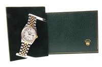 Lot 791 - A GENTLEMAN'S ROLEX OYSTER PERPETUAL BI COLOUR WATCH
