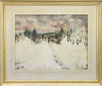 Lot 544-THE ROAD TO BALGRENNIE, A WATERCOLOUR BY DONALD MORISON BUYERS