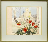 Lot 546-THE VIEW FROM MY WINDOW, A WATERCOLOUR BY LOLA GAMLEY