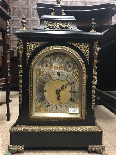 Lot 1433-A 19TH CENTURY GEORGE III STYLE BRACKET CLOCK