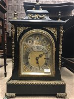 Lot 1433-A 19TH CENTURY GEORGE III STYLE BRACKET CLOCK