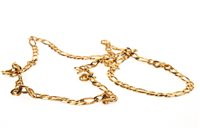 Lot 34-A NINE CARAT GOLD CHAIN NECKLACE