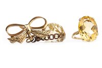 Lot 25-TWO YELLOW GEM SET ITEMS