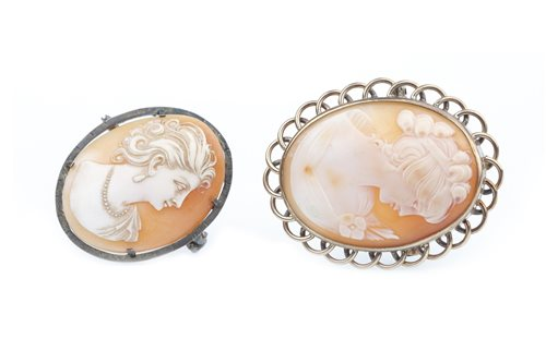 Lot 28-TWO CAMEO BROOCHES