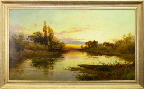 Lot 408-EVENING AT COOKHAM, AN OIL BY JOHN HORACE HOOPER