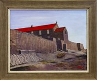 Lot 648-CELLARDYKE SHORELINE, AN OIL BY ALICK GRAY