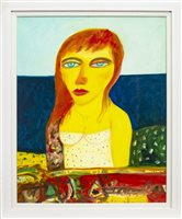 Lot 536-LADY OF THE NORTH, AN OIL BY JOHN BELLANY