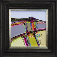 Lot 573-PATCHWORK FIELDS, AN OIL BY FIONA MACLEOD