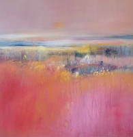Lot 2459 - MAY BYRNE, BLUSH PINK FIELD oil on canvas,...