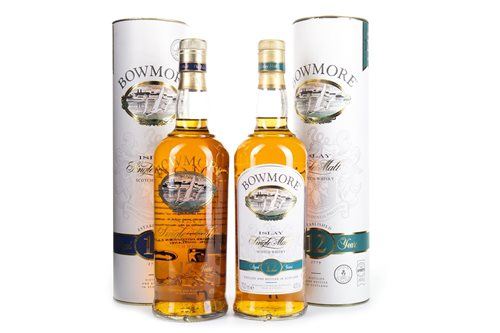Lot 46-BOWMORE 17 AND 12 YEARS OLD