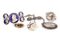 Lot 504-A GROUP OF COIN SET JEWELLERY