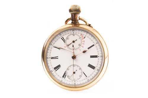 Lot 774 - A GOLD PLATED DOUBLED SIDED OPEN FACE POCKET WATCH