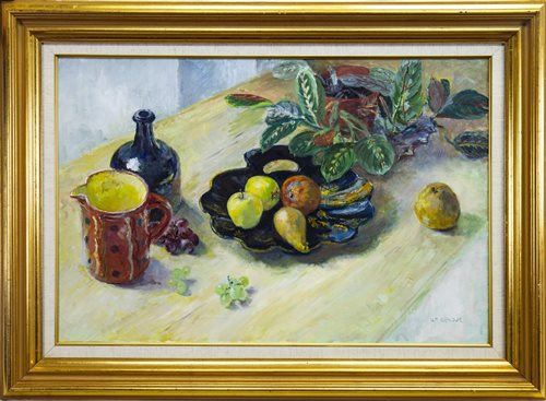 Lot 404-FRUIT AND MARANTA, AN OIL BY WILLIAM ARMOUR