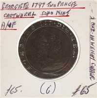 Lot 516-A CARTWHEEL TWO PENCE COIN, 1797