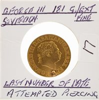 Lot 508-A GOLD SOVEREIGN