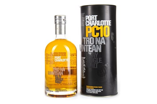 Lot 60-PORT CHARLOTTE PC10 TRO NA LINNTEAN AGED 10 YEARS