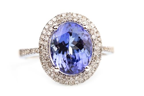 Lot 101-A TANZANITE AND DIAMOND RING