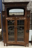 Lot 1648-AN ARTS & CRAFTS MAHOGANY DISPLAY CABINET OF LIBERTY DESIGN