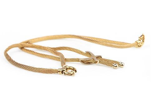 Lot 6-A GOLD NECKLACE WITH MATCHING BRACELET