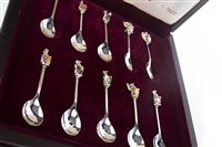 Lot 876 - THE QUEEN'S BEASTS SILVER SPOONS