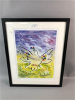 Lot 30-DOVE OF PEACE, A PRINT AFTER PICASSO