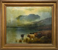 Lot 414-A PAIR OF OILS BY HENRY HADFIELD CUBLEY