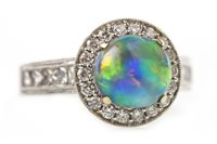 Lot 126 - AN OPAL AND DIAMOND RING
