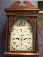 Lot 1441-AN EARLY 19TH CENTURY LONGCASE CLOCK BY MILLIGAN OF AYR